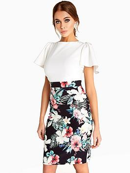 paper-dolls-ruffle-sleeve-printed-2-in-1-dress-floral