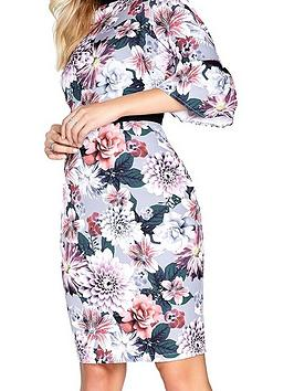 Paper Floral Floral Dress Neck Flute Dolls Print Sleeve Print High  Outlet Cheapest CRJ6e