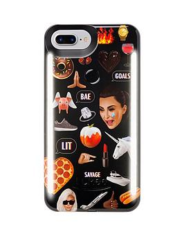 lumee-duo-iphone-8-kimoji-multi-black