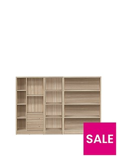 home-essentials--nbspmetro-3-piece-storage-bookcase-package-oak-effect