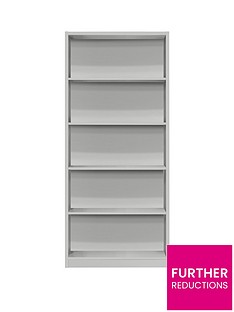 metro-tall-wide-extra-deep-bookcase-grey