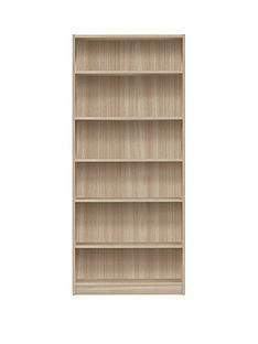 metro-tall-wide-bookcase-oak-effect