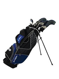 ben-sayers-left-handed-m8-package-set-blue-stand-bag-graphitesteel-mens-left-hand