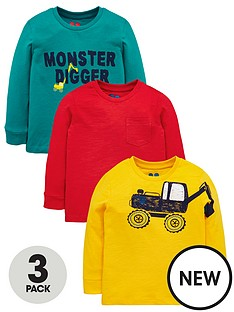 mini-v-by-very-3-pack-boys-monster-digger-tops-multi-coloured
