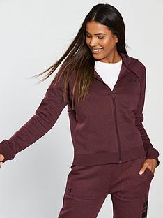 under-armour-rival-fleece-full-zip-hoodienbsp--maroonnbsp