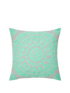 monsoon-mint-suzani-cushion