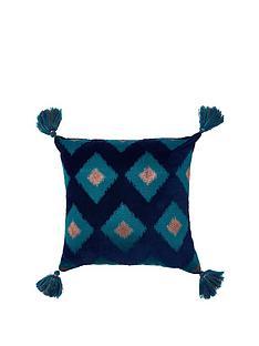 monsoon-square-tassel-cushion
