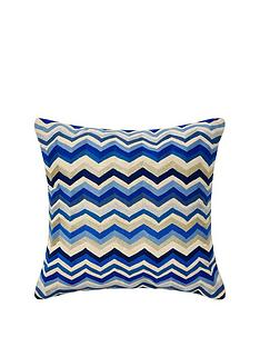 monsoon-blue-zig-zag-cushion