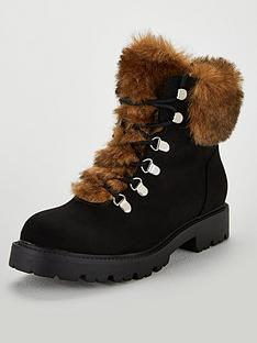 v-by-very-freya-faux-fur-lined-lace-up-boots-black