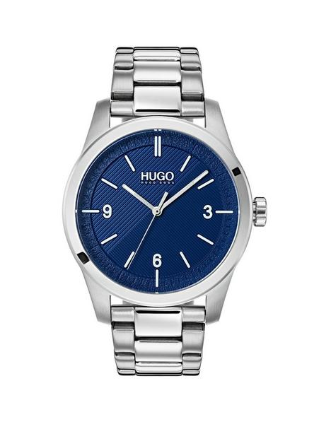 hugo-create-blue-3-hand-dial-with-stainless-steel-bracelet-mens-watch
