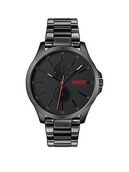 hugo-jump-black-multi-dial-with-black-ip-stainless-steel-bracelet-strap-mens-watch