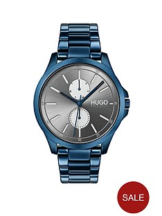 hugo-jump-grey-multi-dial-with-blue-ip-stainless-steel-bracelet-strap-mens-watch