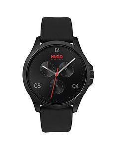 hugo-hugo-risk-black-multi-dial-with-black-rubber-strap-mens-watch