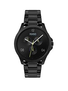 hugo-risk-multi-dial-mens-black-stainless-steel-bracelet-strap-watch