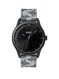 hugo-hugo-dare-black-3-hand-dial-with-grey-camo-leather-strap-mens-watch