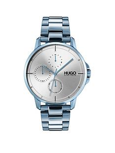hugo-focus-silver-multi-dial-watch-with-blue-ip-stainless-steel-strap