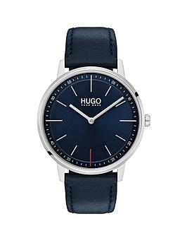 hugo-hugo-exist-blue-2-hand-dial-with-blue-leatehr-strap-mens-watch