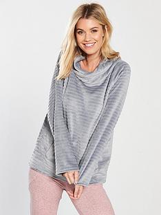 v-by-very-faux-teddy-fur-pyjamanbsphoodienbsp--grey