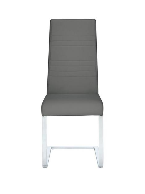 pair-of-jet-faux-leather-cantilever-dining-chairs-grey