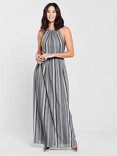 little-mistress-racer-neck-metallic-stripe-maxi-dress-slatenbsp