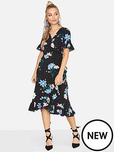 girls-on-film-girls-on-film-spot-floral-print-midi-wrap-dress