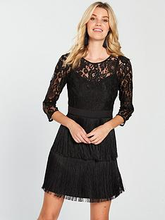 little-mistress-lace-amp-fringe-detail-mini-dress-blacknbsp