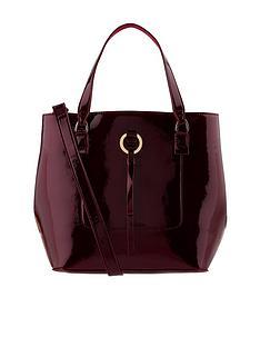 accessorize-patent-double-handle-bucket-bag-burgundy