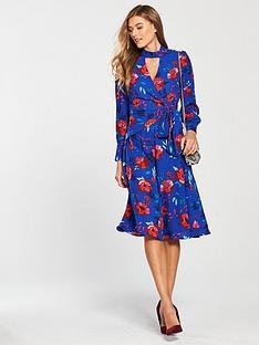 v-by-very-choker-wrap-midi-dress-floral-print