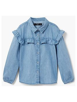 mango-girls-ruffle-denim-shirt