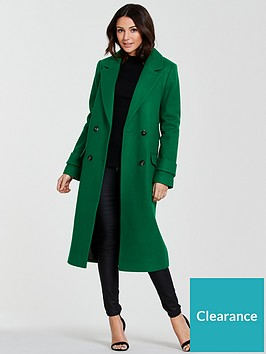 michelle-keegan-double-breasted-formal-coat-green