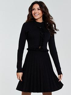 4aef7799c9f Michelle Keegan Lace Insert Knitted Dress - Black