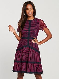 v-by-very-structured-lace-prom-dress-burgundynavy