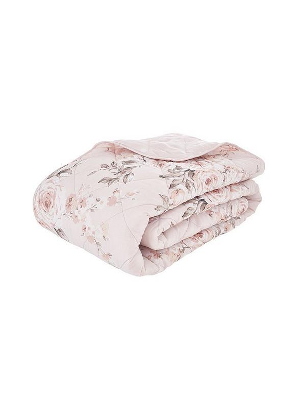 Catherine Lansfield Canterbury Glitter, Blush Pink Glitter Bedding