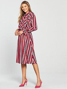 d55a59bc7ba V by Very Geometric Printed Midi Dress - Multi