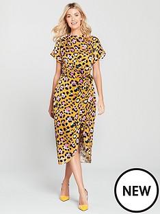 river-island-river-island-waisted-midi-dress-leopard
