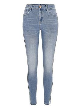 Jeans Skinny Amelie Stripe Island River  Side Light Island River Blue TopRated Buy Cheap Many Kinds Of u3zfDHr7I