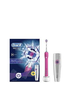 oral-b-oral-b-pro-680-pink-3dwhite-electric-toothbrush-with-travel-case--limited-edition