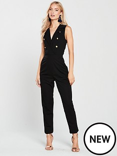 ax-paris-blazer-front-jumpsuit--black