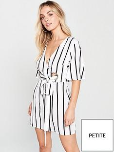 AX Paris Petite AX PARIS Petite Tie Waist Pin Stripe Dress c261e57d2