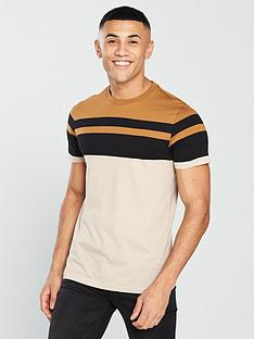 v-by-very-yarn-dyed-panel-tee