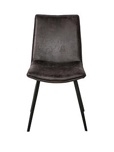 hudson-living-pair-of-hinks-faux-leather-dining-chairs--grey