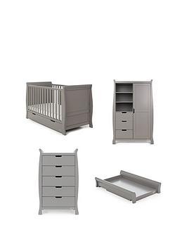 6c5031465752 Obaby Stamford Classic Sleigh 4-Piece Nursery Furniture Room Set ...