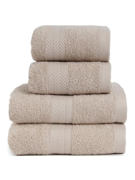essentials-collection-4-piece-100-cotton-450-gsm-quick-dry-towel-bale-ndash-pebble