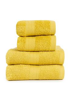 essentials-collection-4-piece-100-cotton-450-gsm-quick-dry-towel-bale-ndash-saffron