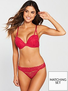 Ann Summers Sexy Lace 2 Demi Thong - Red 3c0a62e09