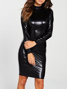 ann-summers-dominatrix-long-sleeve-dress-black