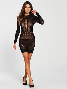 ann-summers-janelle-circular-knit-dress-black