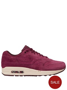 nike-air-max-1-premium-trainers-burgundy