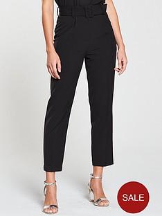 miss-selfridge-paperbag-trouser-blacknbsp