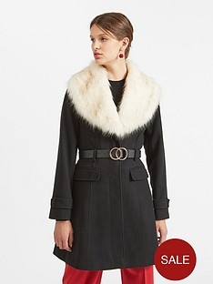 miss-selfridge-miss-selfridge-belted-faux-fur-fit-and-flare-coat
